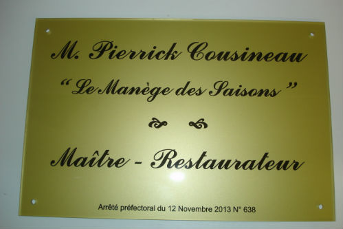 Plaque restaurant